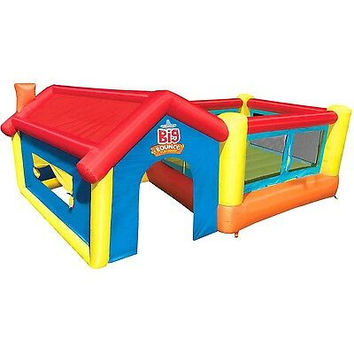 Banzai Big Bounce Play House (Inflatable Backyard Jump Bouncer Castle)