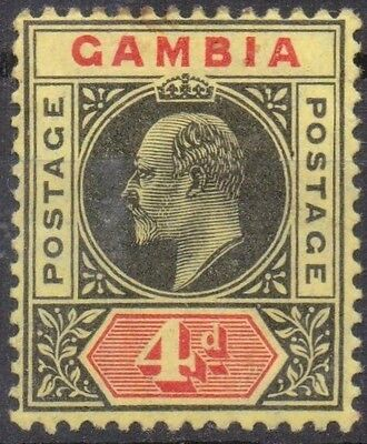GAMBIA 1909 4d LM/Mint SG 76