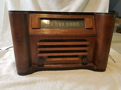 Vintage 1941 Silvertone Tube Radio 6051 Table Top Mahogany Wood Repair Project