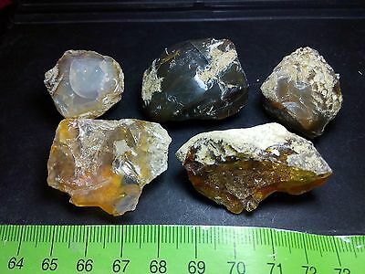 Opal Ethiopian Rough Crystal Welo - 385 ct - 5 Big pieces