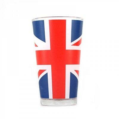 Union Jack Flag Large Glass Retro Royal UK Tumbler Gift Novelty