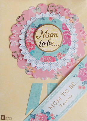 Vintage Style Mum To Be Rosette - Badge - Baby Shower - Baby naming day