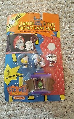Pee Wee's Playhouse Jambi The Genie & The Puppet Land Band Matchbox 1988 New