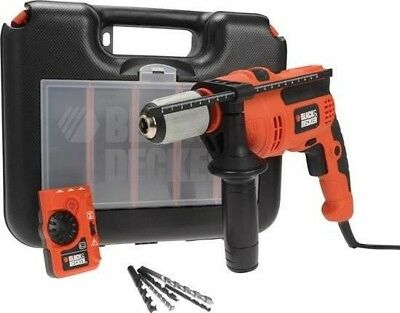 Black + Decker 710W Hammer Drill With Free Detector
