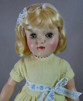 IDEAL P-91 HARD PLASTIC TONI DOLL 15in TALL 1950'S MADE IN USA