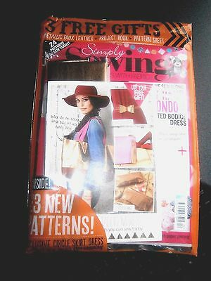 Simply Sewing Magazine Issue 12 With Free Gift (new)