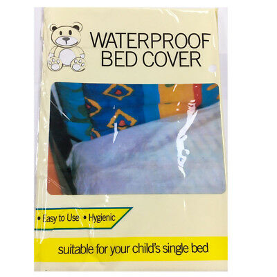 Kids Waterproof Bed Mattress Protector Cover 200x100 cm Child's Single Mat White