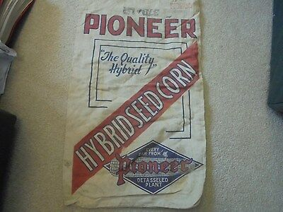 Vintage Early Pioneer Hybrid Seed Corn Cloth Bag Sack Corn