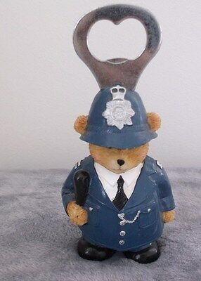 Vintage Novelty POLICEMAN TEDDY BEAR Bottle Opener / Fridge Magnet