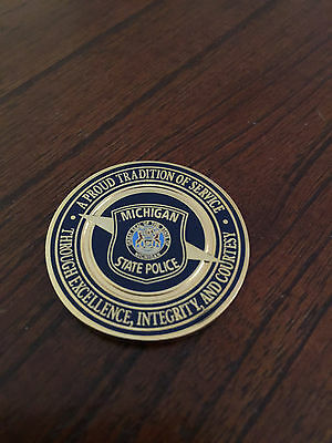 ***michigan State Police Challenge Coin***