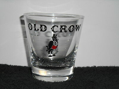 OLD CROW 6oz glass The Greatest Name in Bourbon National Distillers
