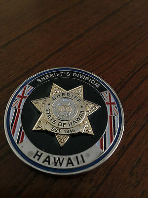 ***hawaii Sheriff's Department Challenge Coin***