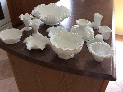 Fenton Bowl Candle Holders Hats Shoes