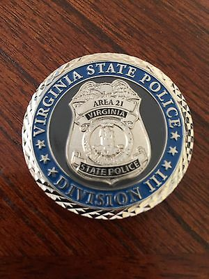 ***virginia State Police Division Iii Challenge Coin***