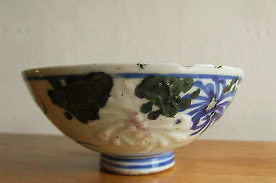 Chinese Ming Dynasty Floral Painted Tea Bowl