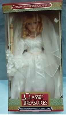 Classic Treasures Special Edition Collectible Doll,genuine Fine Bisque Porcelain