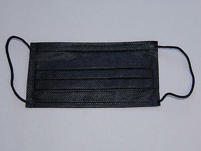 20 pcs Disposable Charcoal Black Nonwoven Ear Loop 3 ply Surgical Face Mask