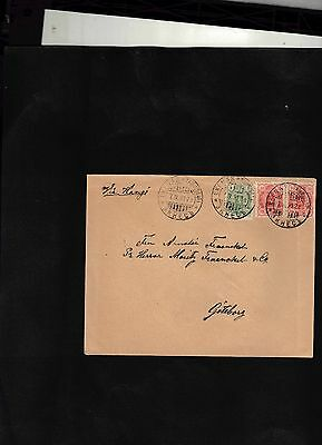 1899 Cover sent from Ekenas to Sweden
