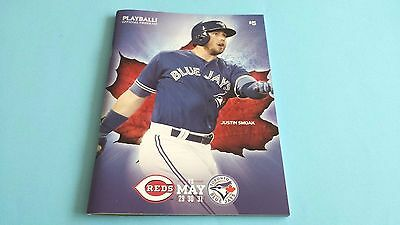 May 29 - 31 2017 Cincinnati Reds @ Toronto Blue Jays Program***Justin Smoak***