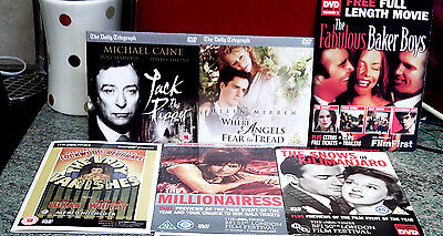 6 Dvd Films, Newspaper Promos, Very Varied Content, Please See All Pics