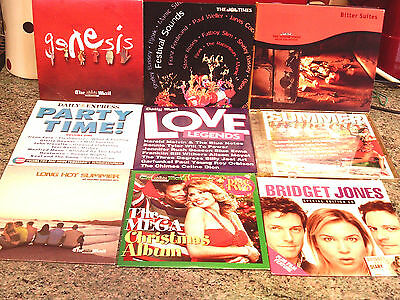 8 Music Cds, Newspaper Promos, Very Varied Content, Please See All Pics
