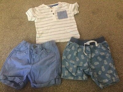 9-12 months Baby Boy T-shirt & shorts Bundle - TU & M&Co
