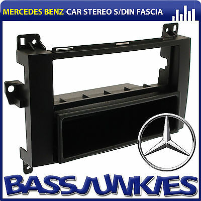 Mercedes Benz Sprinter 2006 On Van Stereo Single Din Fascia Panel BLACK