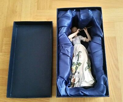 Old Tupton Ware Beautiful Hand Painted Porcelain Flute Player, Rare  Immaculate