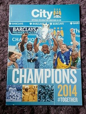 Manchester City souvenir celebration programme 2013/14 CHAMPIONS # TOGETHER