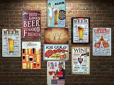 10pcs Blechschild Bier Bar Restaurant Metallschild Metal Tin Sign 20 x 30cm