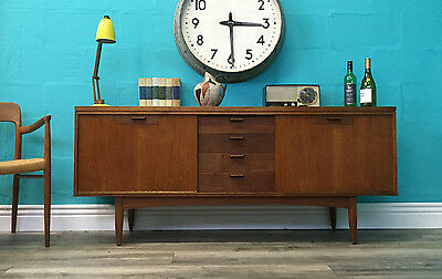 Stylish Retro Mid Century White And Newton Vintage Teak Sideboard