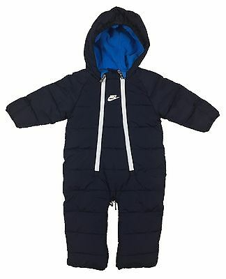 Nike Infant/Toddler Sportswear Convertible Snowsuit Jacket Navy Blue/White New