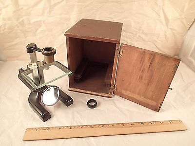 Antique SPENCER BUFFALO, U.S.A. Dissecting Botanical Microscope w/ Case