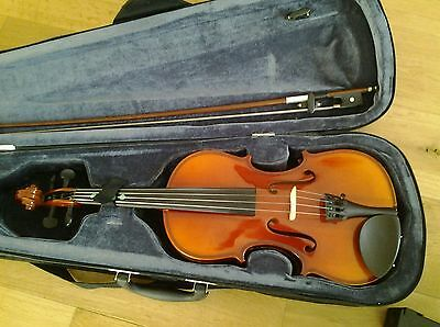 Stagg half (1/2) size violin with bow, case, rosin and stand
