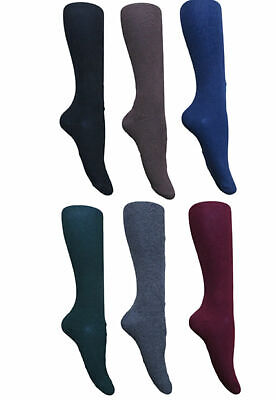 6 pairs GIRLS SCHOOL KNEE HIGH SOCKS 80% COTTON 7 COLOURS & 4 SIZES