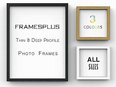 Sleek Picture Photo Poster frame Thin Deep Frames Black White Oak A1 A2 A3 A4