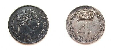 George Iii 1820 Silver Maundy Fourpence