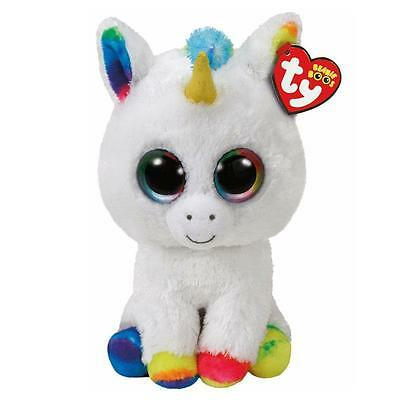 Ty Beanie Boos 36852 Pixy the White Unicorn Boo