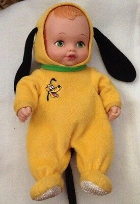 """Vtg 1990 Lauer Water Babies Pluto Disney Outfit 12"""" Green Eyes Red Hair"""