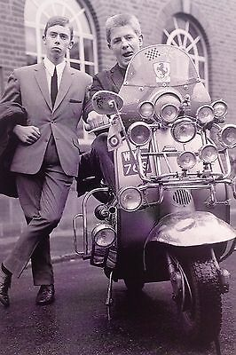 "MODS / LAMBRETTA 1960's, Collectable 4"" X 6"" Postcard, 60's Mods, Vespa, Scooter"