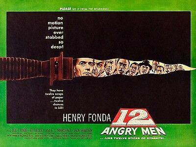 """12 Angry Men 16"""" x 12"""" Reproduction Movie Poster Photograph 2"""
