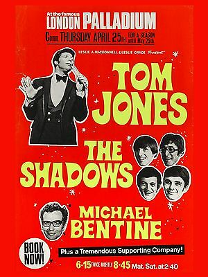 "Tom Jones / Shadows Palladium  16"" x 12"" Reproduction Concert Poster Photo"
