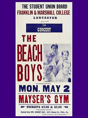 "Beach Boys Lancaster 16"" x 12"" Reproduction Concert Poster Photo"