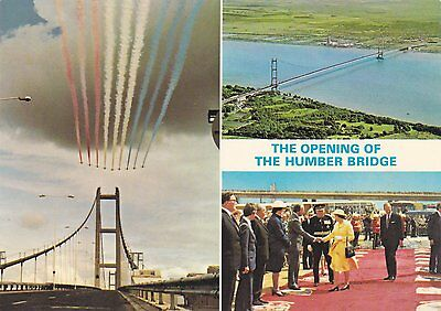 Postcard showing The Opening Of The Humber Bridge.