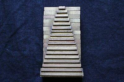 Brass-Copper-Bookbinding-Tool-Stamp-Die-Emboss-Gild-Gold-Single Line-17 Pieces