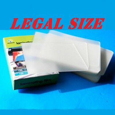 Ultra Clear Laminating Laminator Pouches Sheets 100 LEGAL SIZE 9 x 14-1/2 5 Mil