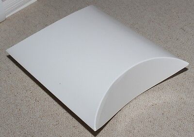 50 x WHITE PILLOW GIFT BOXES LARGE 100 x 110 x 40mm BULK BUY, GREAT VALUE NEW