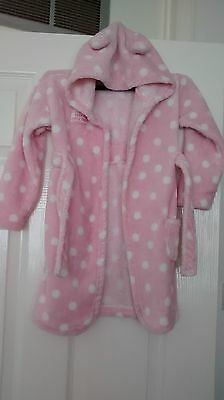 dressing gown hooded robe 18-24 months pink