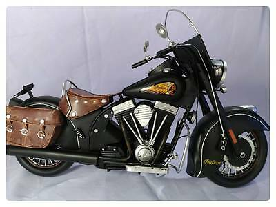 1953 Indian Chief Motorcycle Vintage Rare Collectible Handmade Tinplate Model