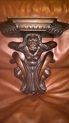 Carved Walnut bracket Shelf  Antique